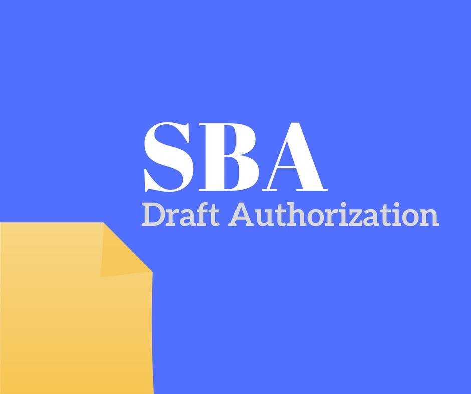 SBA Draft Authorization