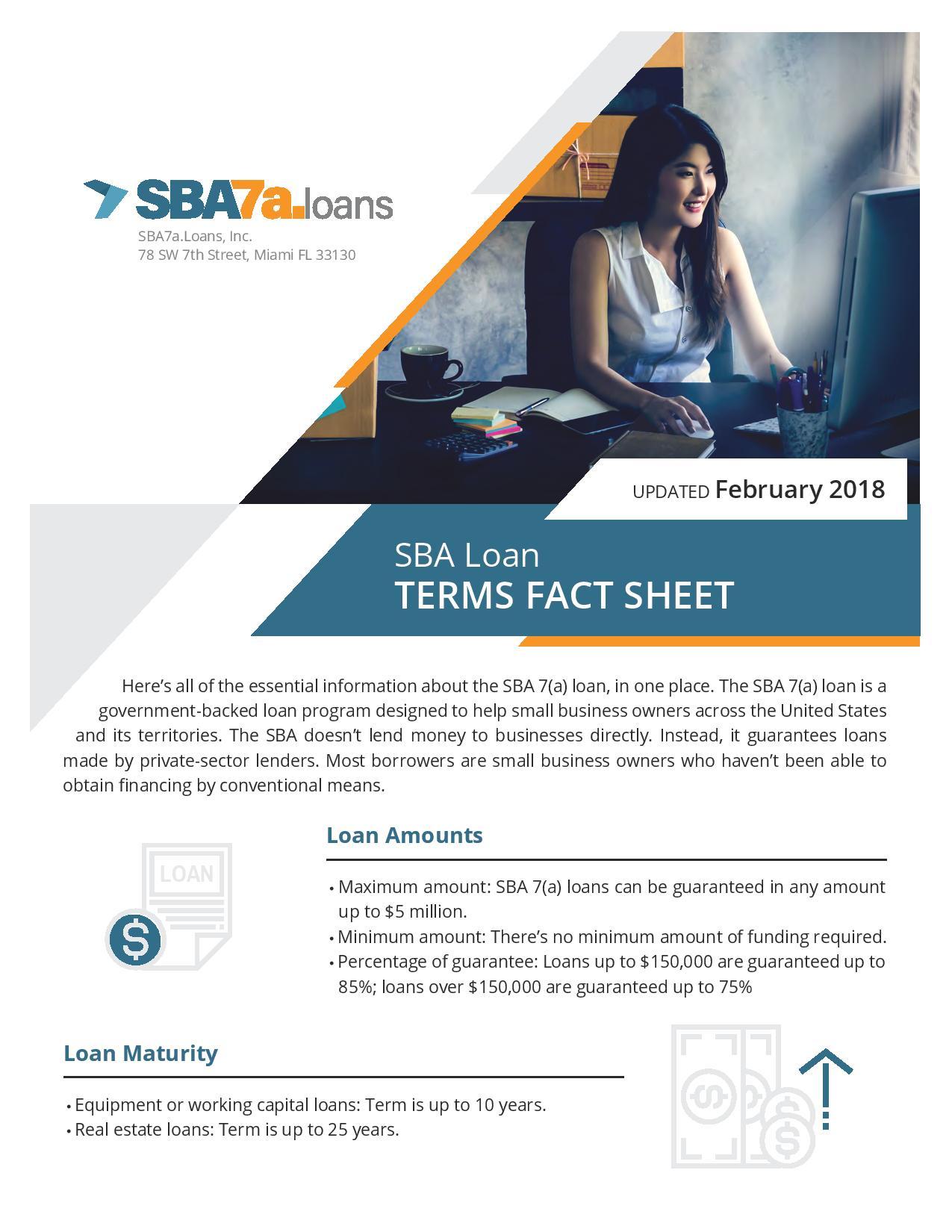 SBA 7(a) terms fact sheet