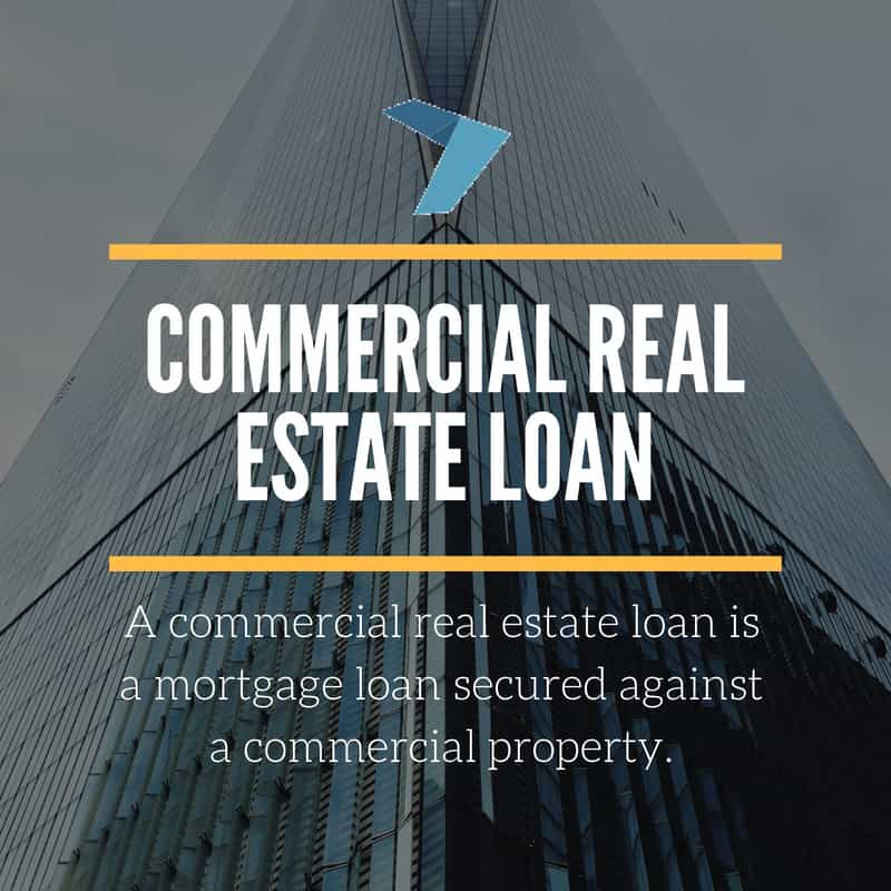 A commercial real estate loan is a mortgage loan secured against a commercial property