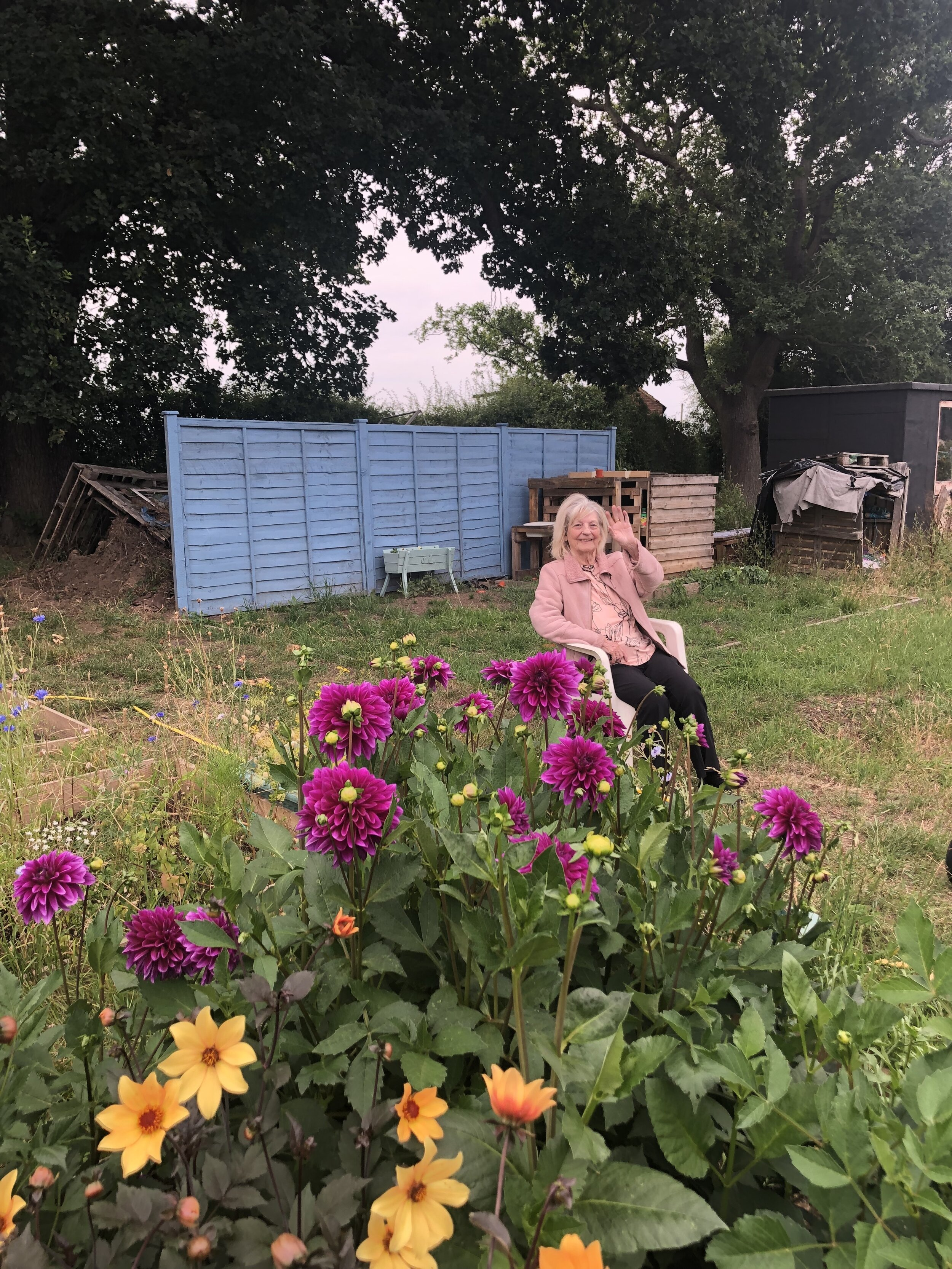 Nanny May in her element - August 2019