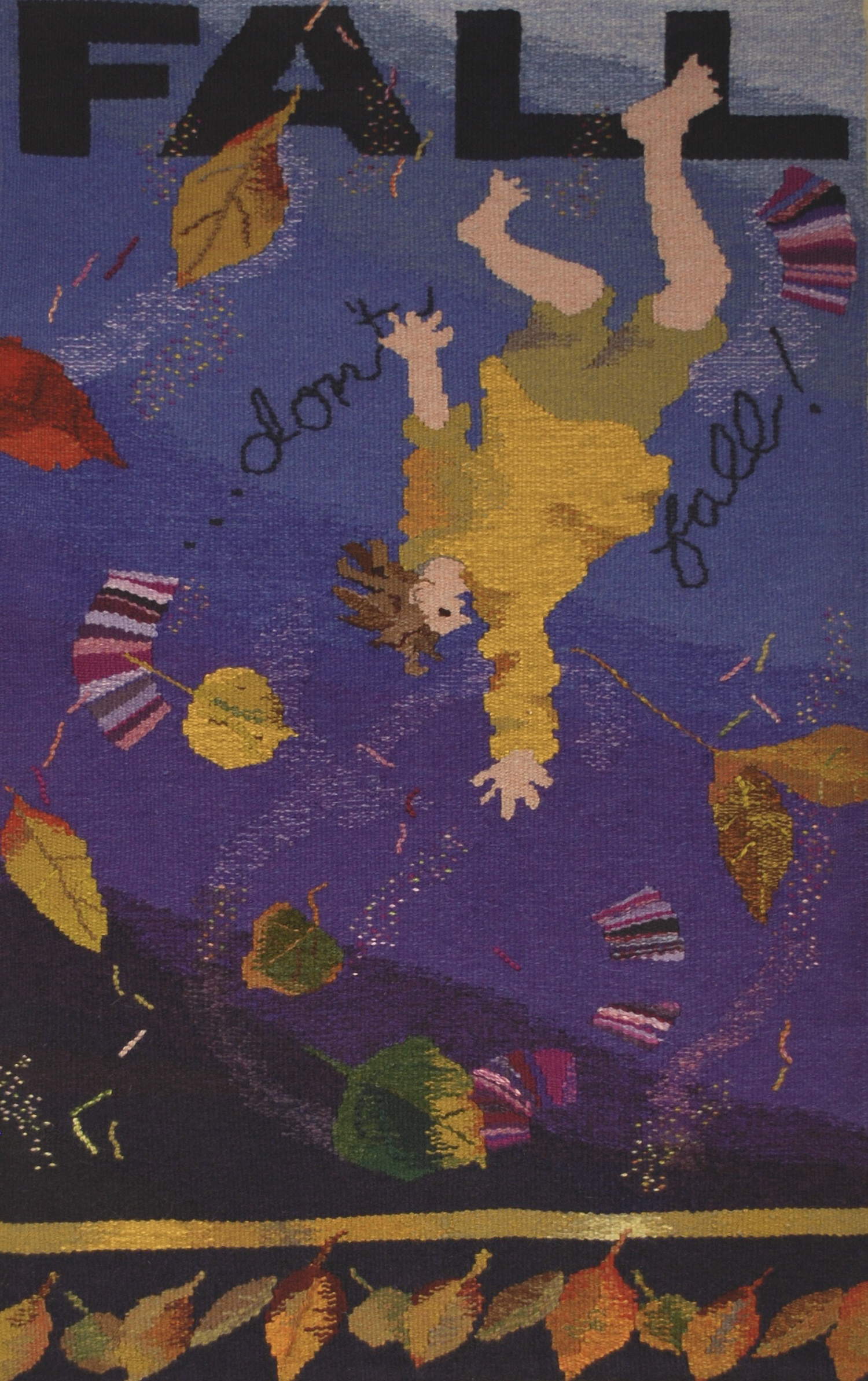 """FALL/ don't fall   21""""x34""""  Private Collection"""