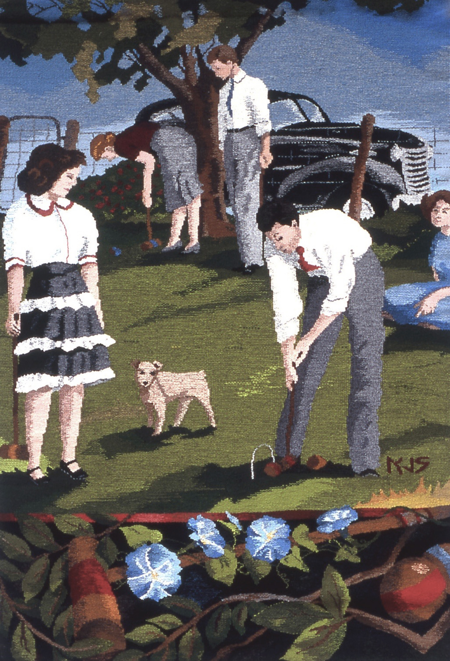 """Croquet Coquette   53""""x36""""   available"""