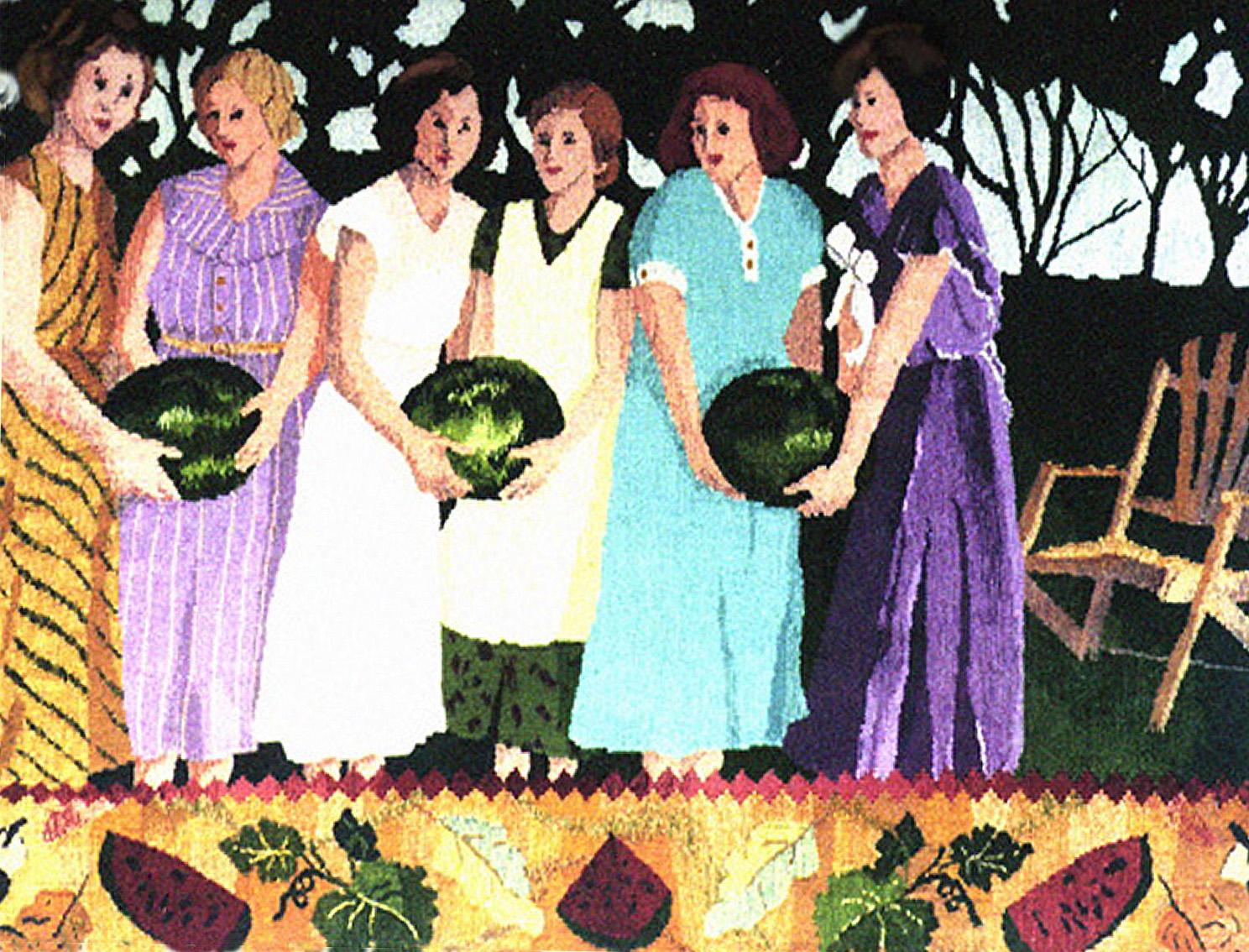 "Watermelon Girls   40""x50"""