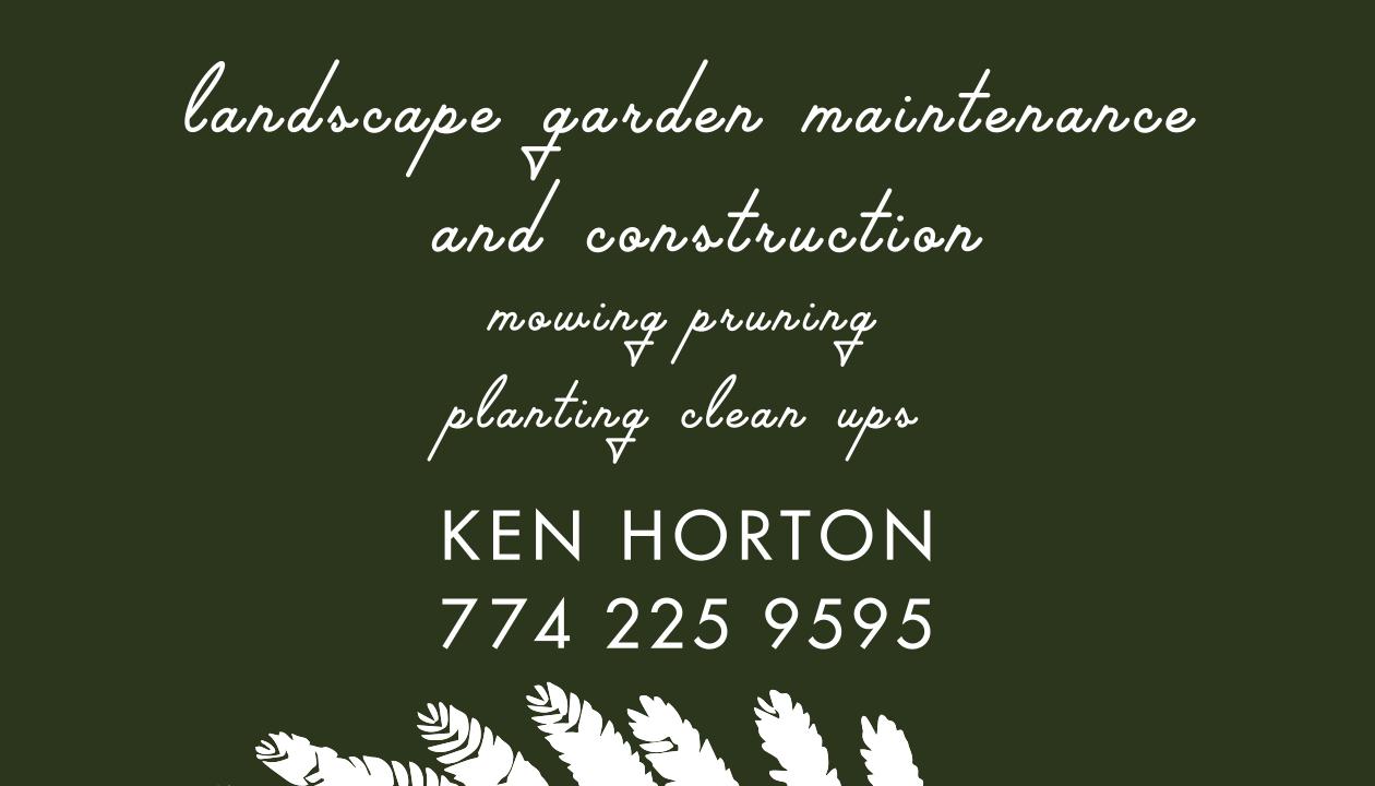 hortonculture business card back by owen keturah