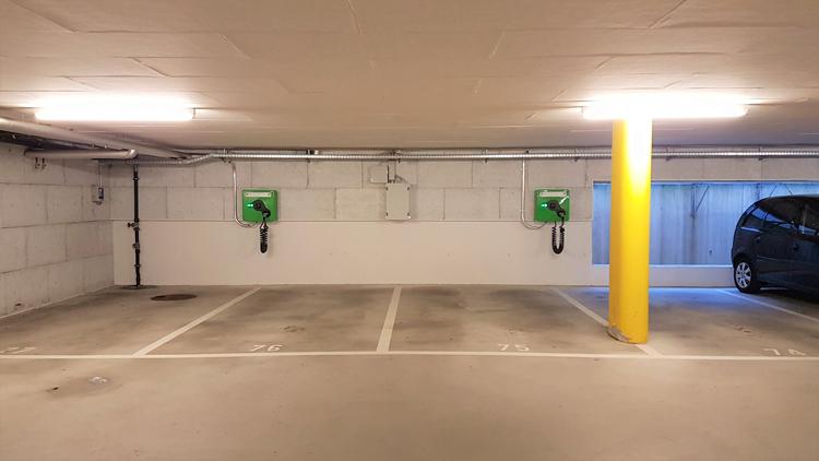 Ladestationen in Kriens - 2 wallbe Pro Plus Ladestationen, realisiert mit unserem Partner Invisia.Inbetriebnahme: Februar 2018