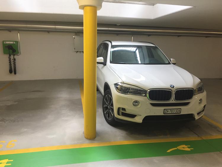 e-Parkplätze im Gebäude Prisma -
