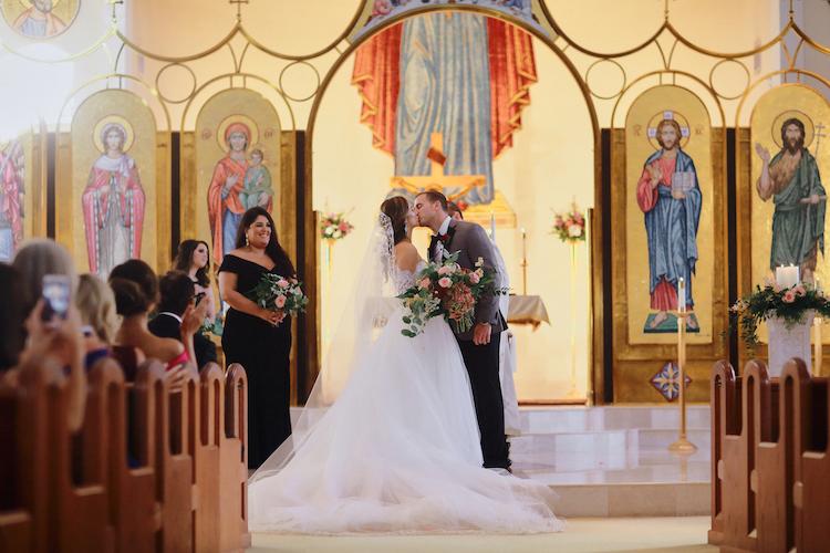 """""""You may kiss the bride…"""" at  Saint Barbara Greek Orthodox Church"""