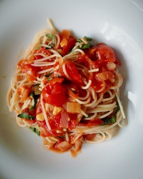Tomato Basil Angel Hair Capellini Pasta