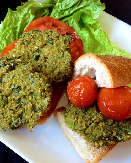 Super Green Quinoa Vegan Sliders