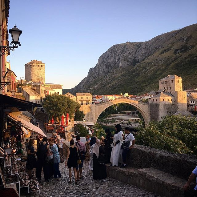 Some of my favorite travel memories are from when we change our itinerary and are pleasantly surprised. We stopped in Mostar (Bosnia-Herzegovina) during a trip to Montenegro and loved the cobblestone streets, the mix of cultures, the nearby waterfalls, friendly people... what places have surprised you? . . . #mostar #travel #mostarbridge #exploringtheglobe #exploretocreate #openmyworld #roamtheplanet #lonelyplanet #passionpassport #travelandleisure #livetotravel #traveldeeper #travelstoke #girlsborntotravel #globelletravels #girlsmeetglobe