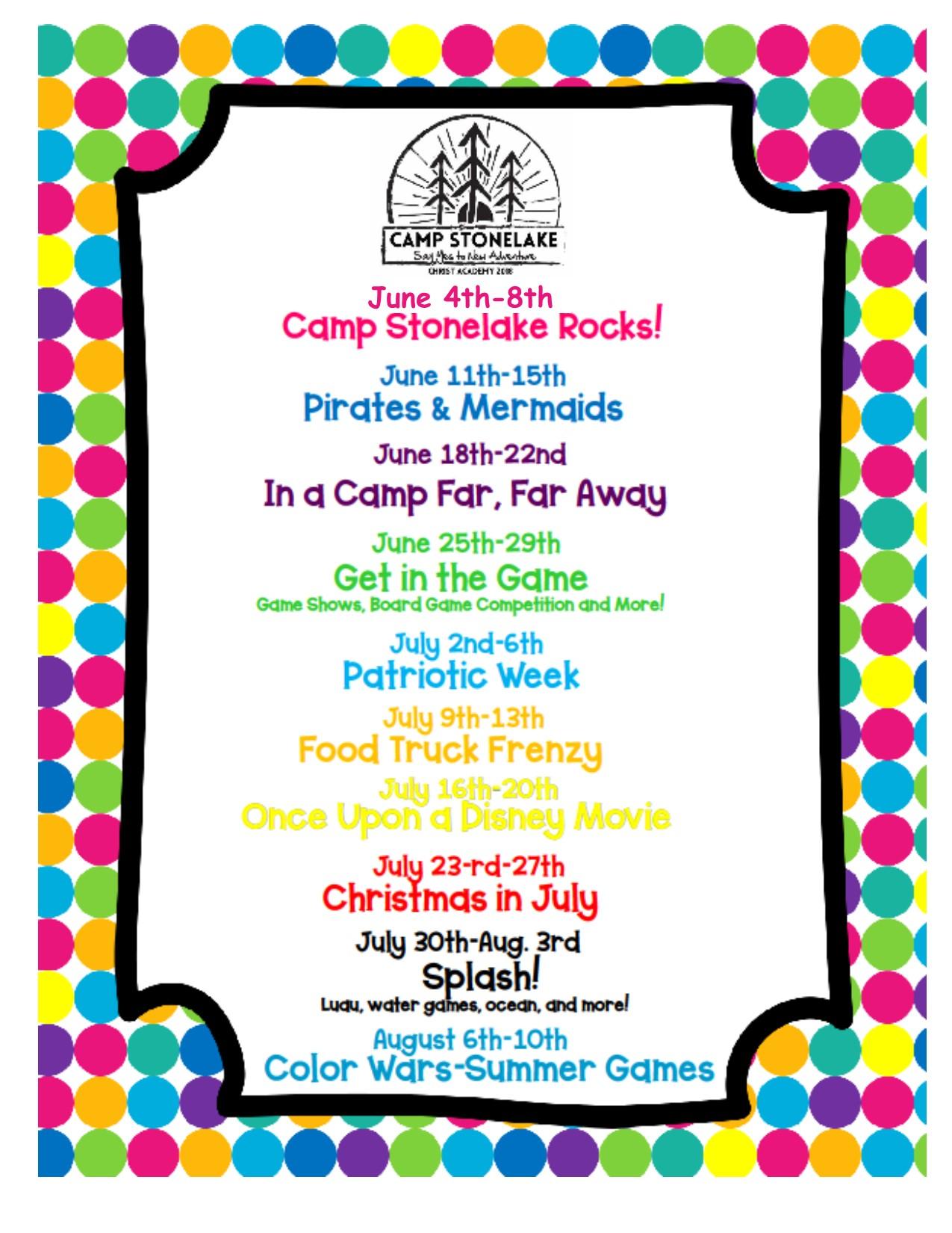 Camp Stonelake Wichita Falls TX 2018 Camp Themes.jpg