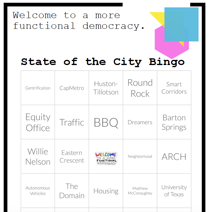 State of the City Bingo