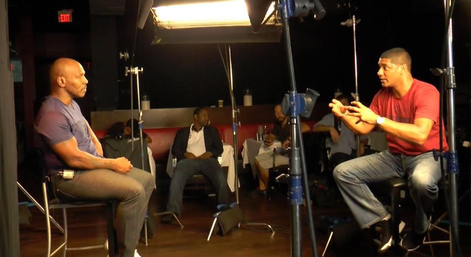 Allen directs Mike Tyson on set.