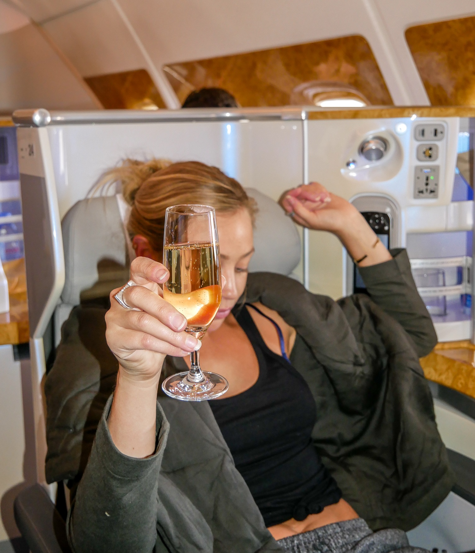 My first time on the Emirates A380 Airbus in 2017