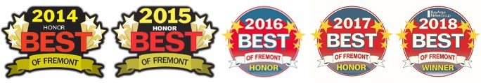 tbc has received Best of fremont awards for the last five years!