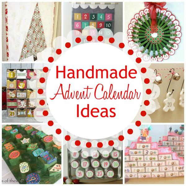 Lots of handmade advent calendar ideas