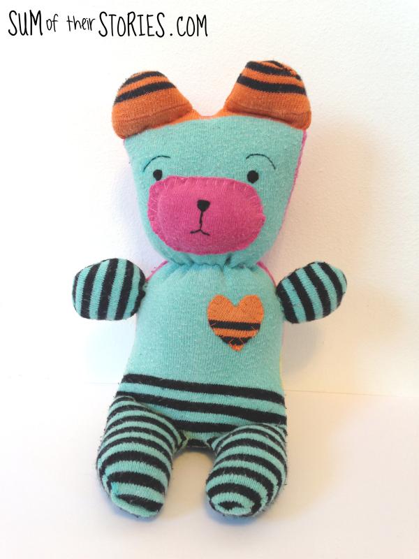 Cute sock teddy tutorial