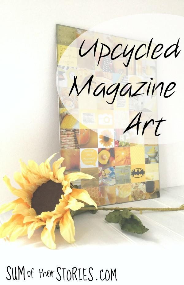 Upcycled Magazine art