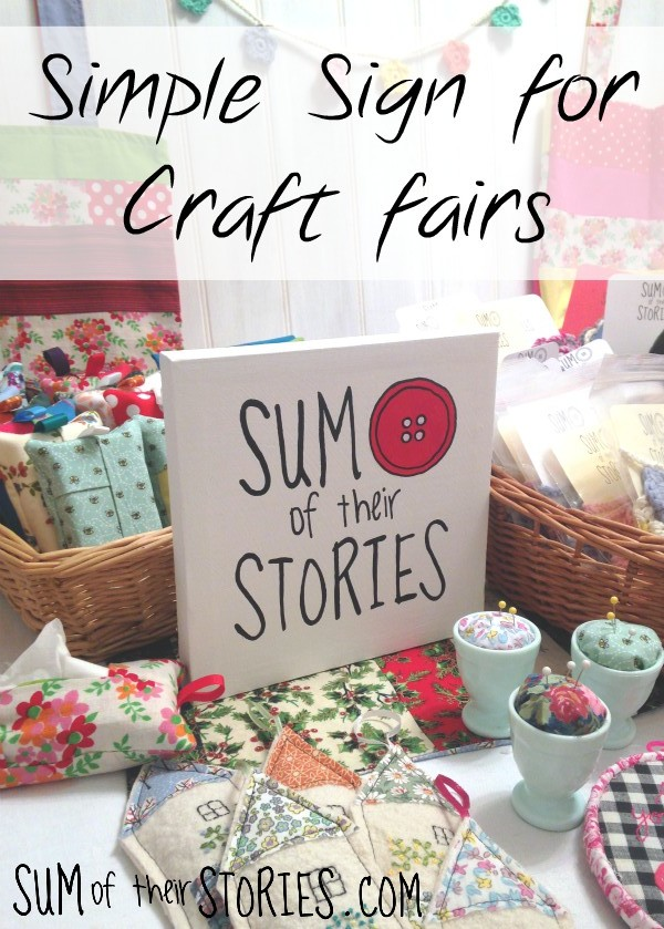 simple sign for craft stalls