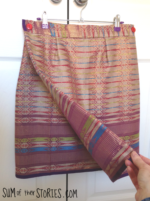 wrap skirt from a sarong