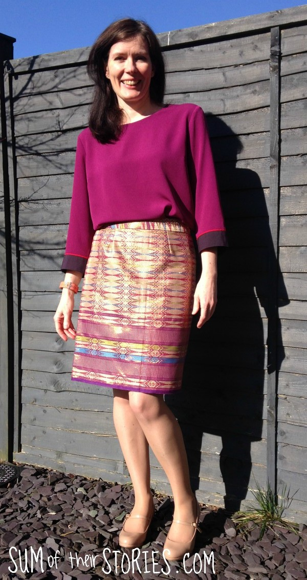 turn a sarong into a wrap skirt