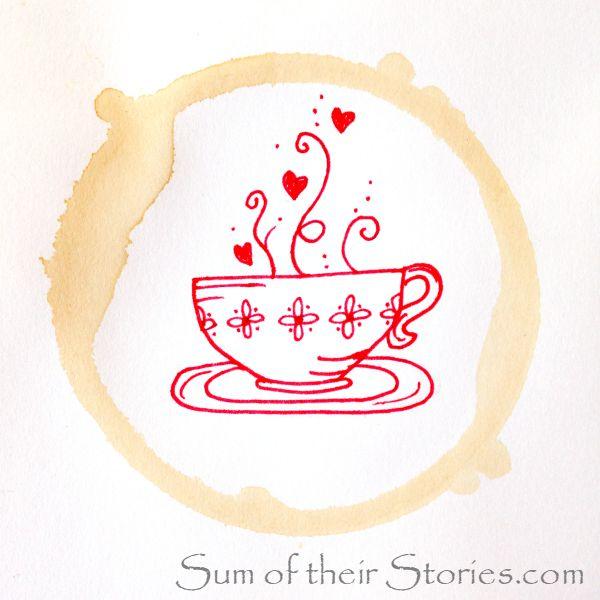 tea cup doodle