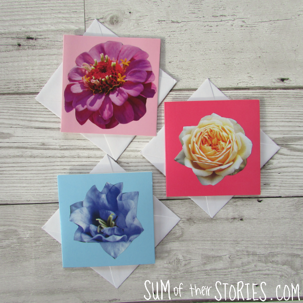 simple little cards made from old magazines