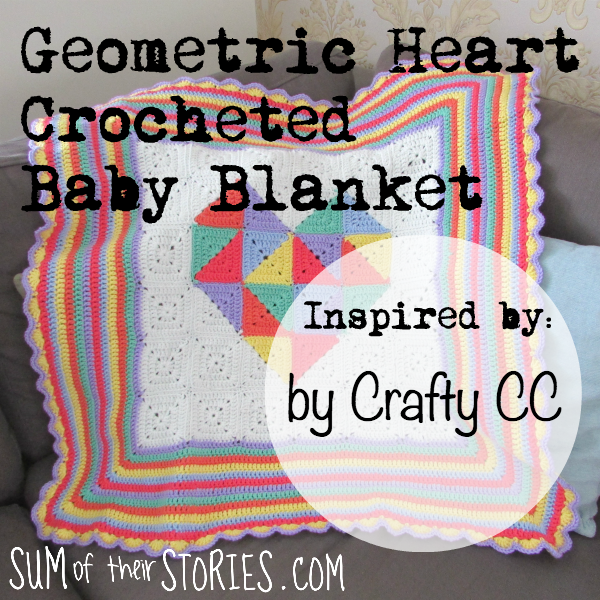 Geometric Heart Baby Blanket inspired by Crafty CC