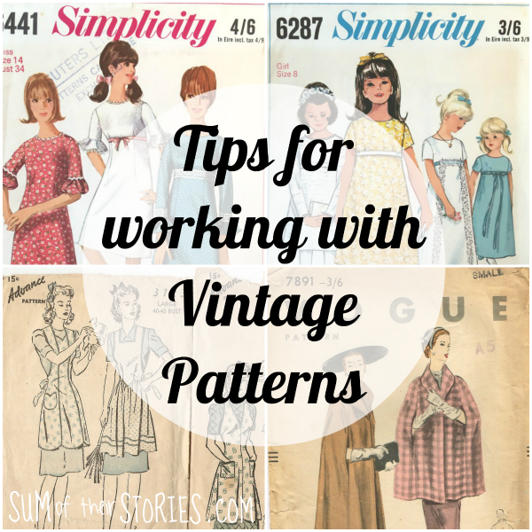 Tips for working with vintage sewing patterns