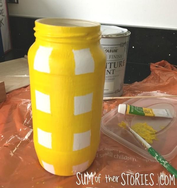 check painted vase idea