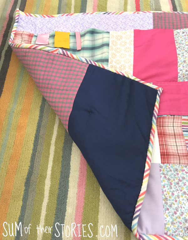 how to make a fabric play mat