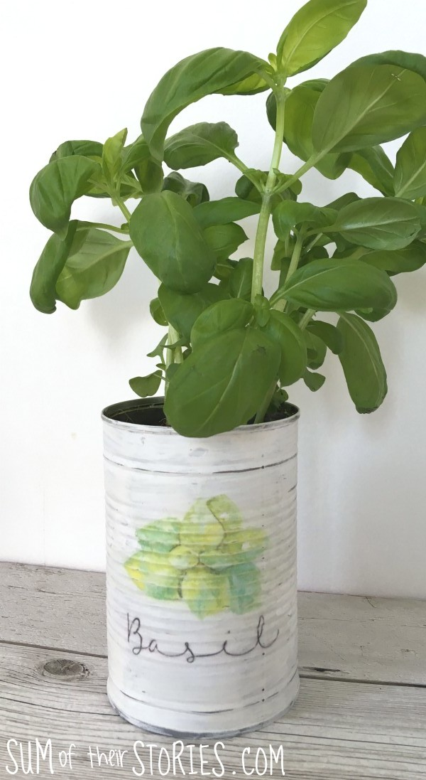 Upcycled Can Herb Planter