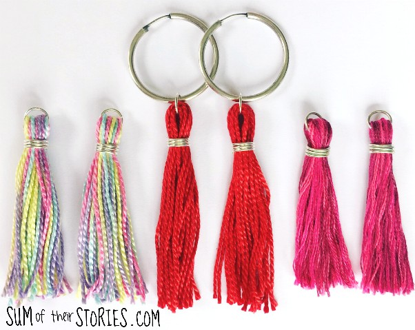 how to make a set of tassel earrings