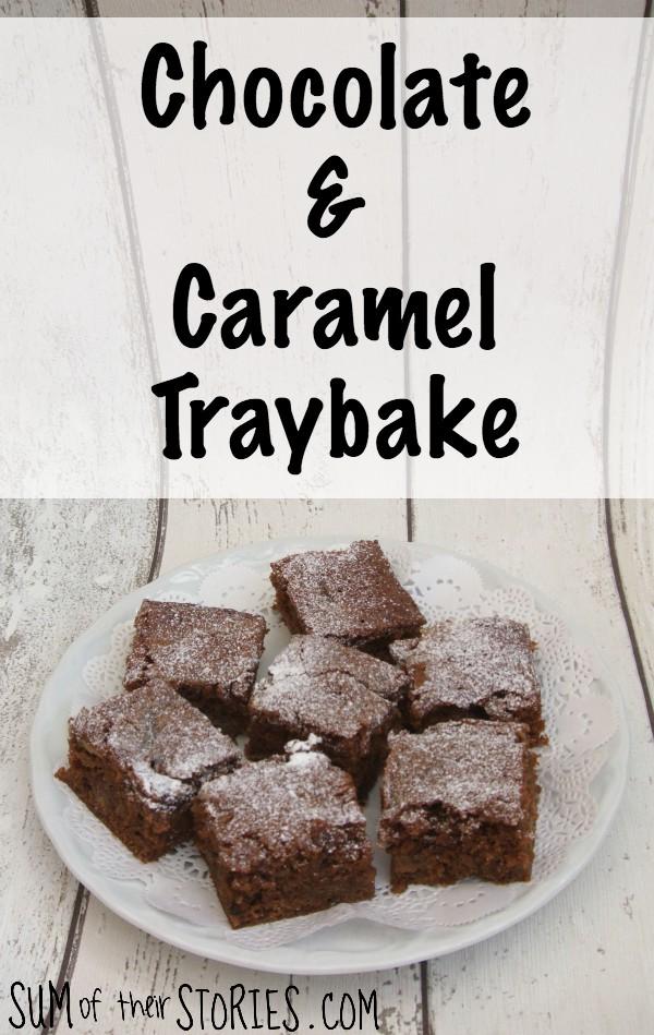 chocolate and caramel traybake