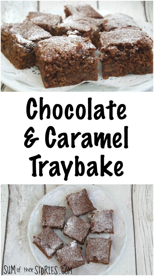 Chocolate and caramel traybake recipe