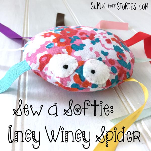 Sew a softie incy wincy spider