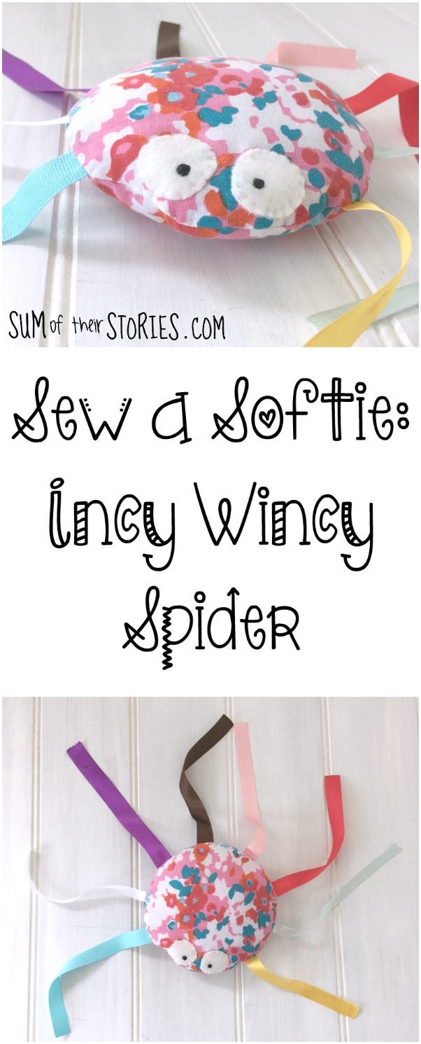 Sew a softie spider tutorial