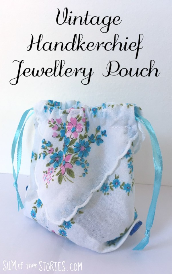 vintage handkerchief jewellery pouch tutorial