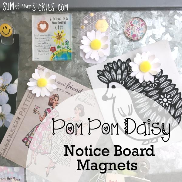daisy notice board magnets