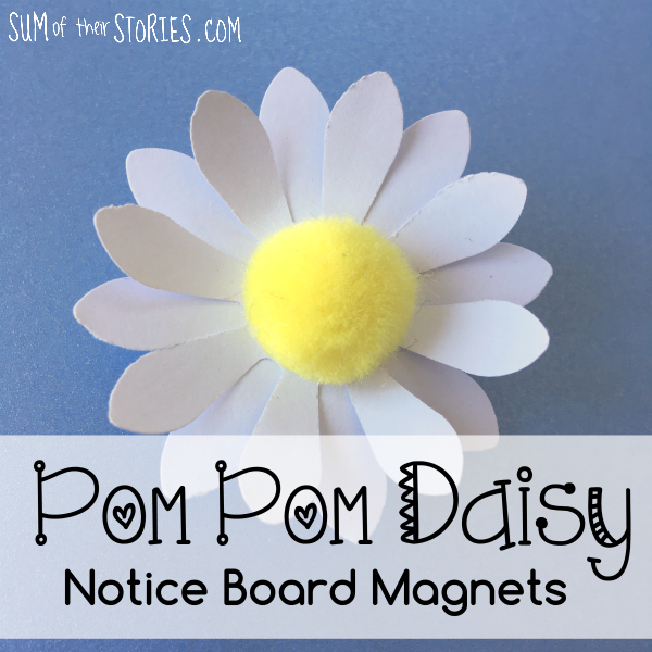 make your own fun pom pom flower push pins