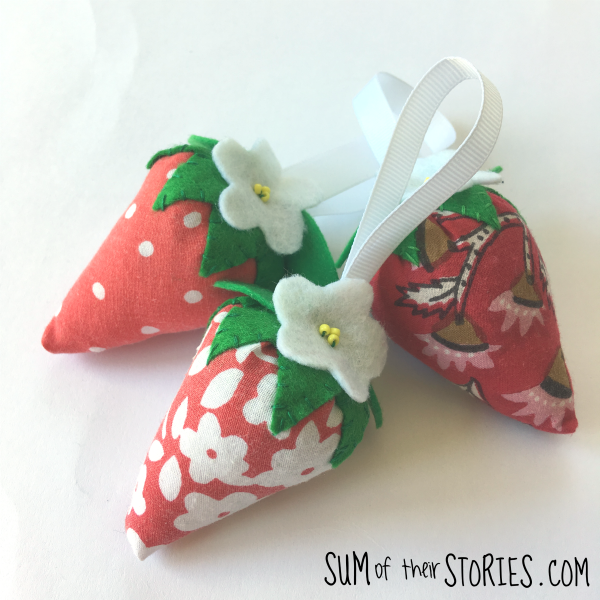 Strawberry scented sachets