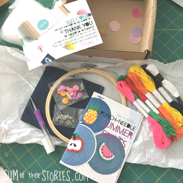punch needle kit contents