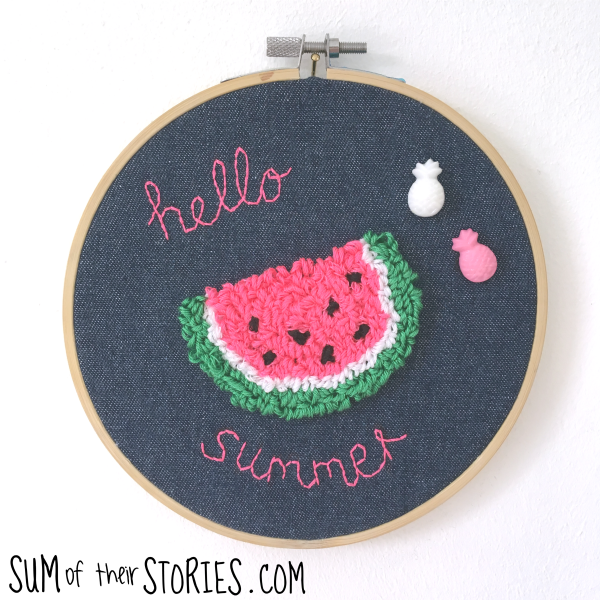 needle punch embroidery watermelon