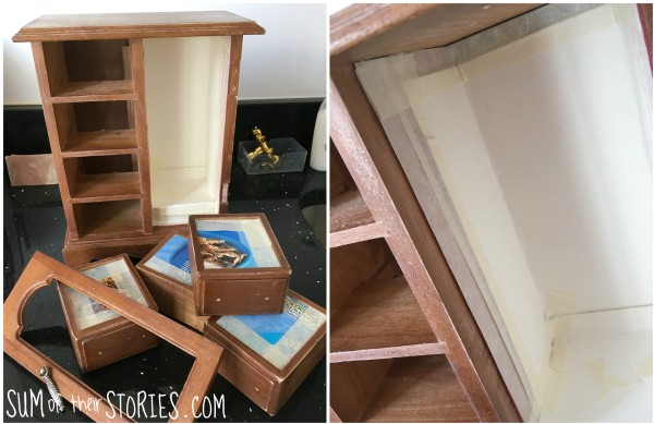 prepare jewellery box for painting