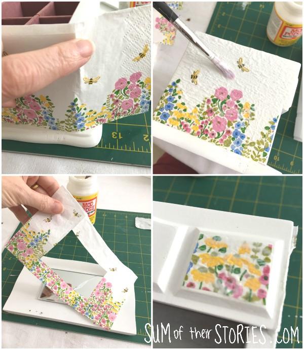 paper serviette decoupage