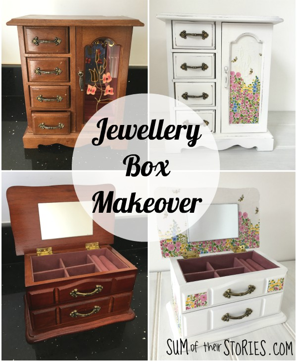 Jewelry box update with spray chalk paint