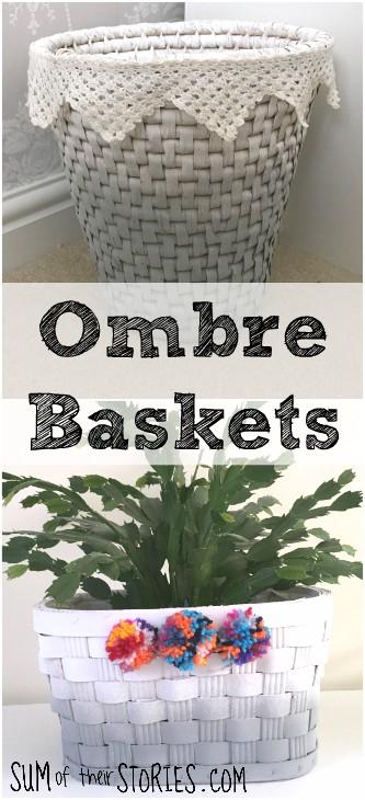Ombre baskets DIY
