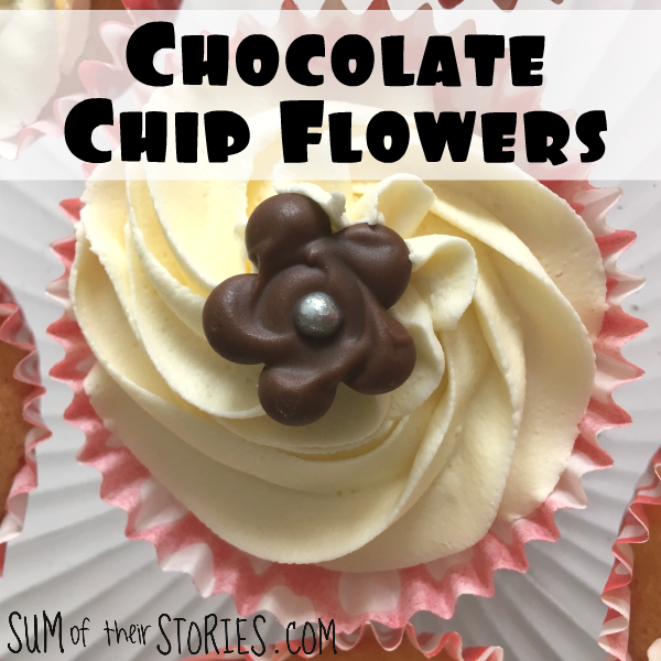 Easy chocolate chip flower cake decorations