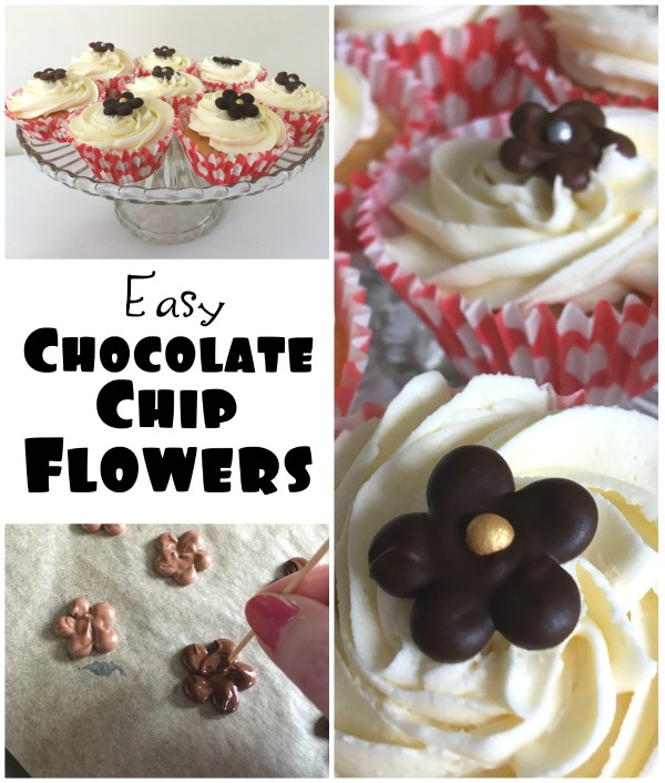 Easy to make chocolate chip flowers
