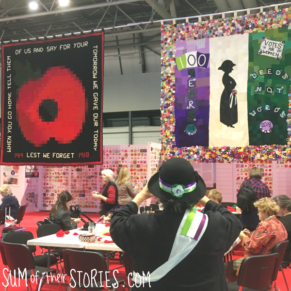 ww1 and suffrage centenary wallhangings